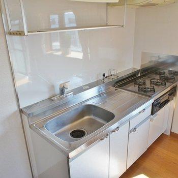 システムキッチン、大きくて使いやすい!