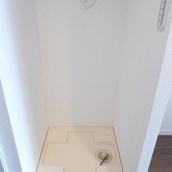 室内洗濯機のスペースも完備