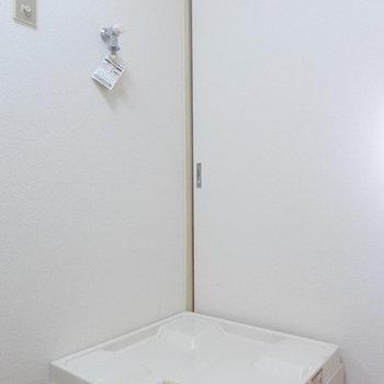 洗濯機置場も室内に完備