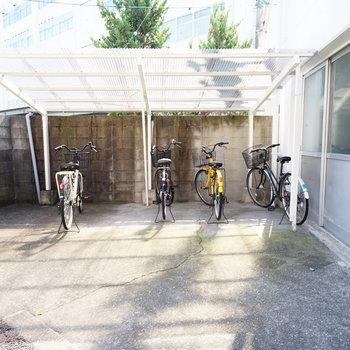 駐輪場もあります♪