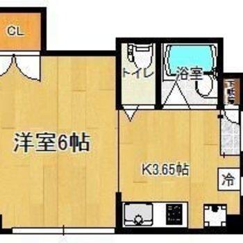 1人暮らしにはこのくらいの広さがちょうどいいのかも。