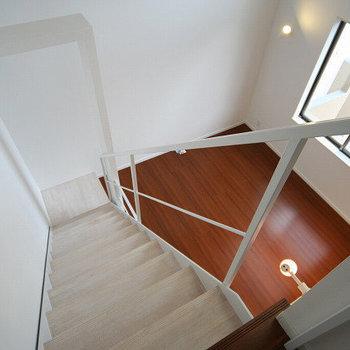 3階から見下ろすとこんな景色。※写真は同間取りの別部屋