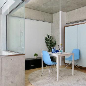 こちらにも空間があります※写真は3階の同間取り別部屋、モデルルームのものです