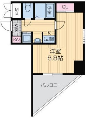 ロイヤルヒル神戸三ノ宮Ⅱの間取り