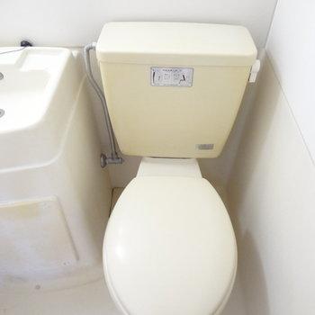 トイレはこんな感じ。すこし古さを感じます。