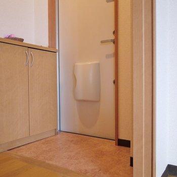 玄関はちょっと狭いかな。