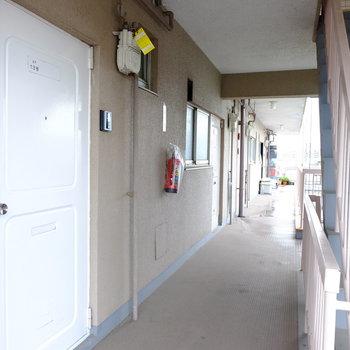玄関ドアも新しく白に塗装しました。