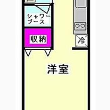 キッチン3畳、洋室6畳