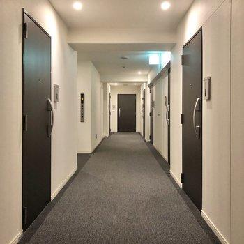 こちらが12階の廊下。