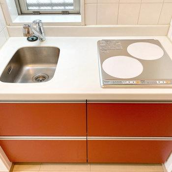 【LDK】IHコンロでお掃除もしやすいです。