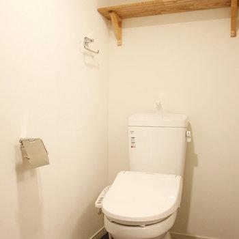 タオルもかけられるし、上の棚にも収納できるし、機能性バツグン