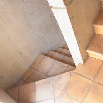 階段部分はこんな感じ。
