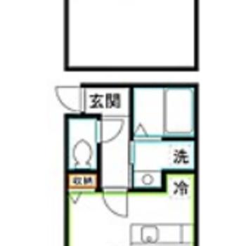 天井の高い9.08帖の洋室とロフト空間