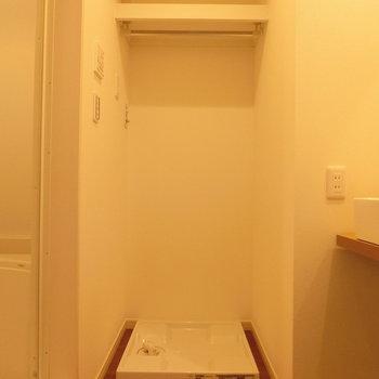 室内洗濯機置場と水回りの配置。