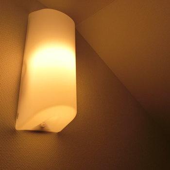 ロフトにあったあたたかな照明