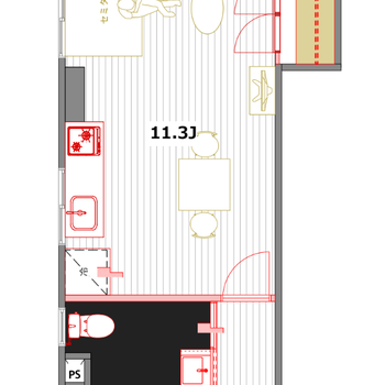 家具の配置が楽しいお部屋!