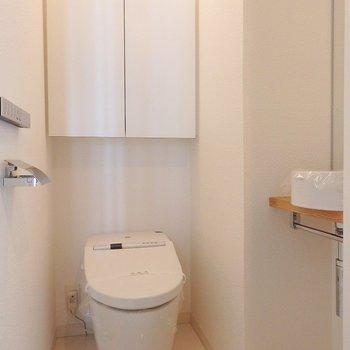 トイレにもミニ手洗い。
