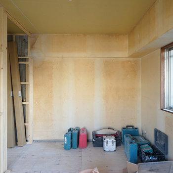 こちらは4.5帖の寝室に※写真は工事中です