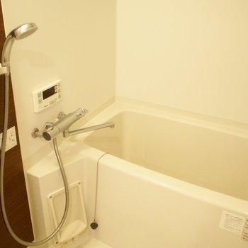 お風呂の色合い高級感あります!