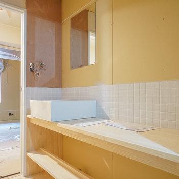 【工事中】幅広な洗面台