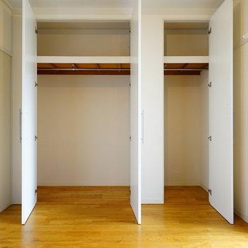 収納もそれぞれの寝室にこの大きなのクローゼットが!※写真はイメージです