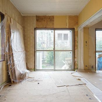 【工事中】2面採光の寝室