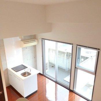 上から見ても、キッチンからの景色良さそう! ※写真は同間取り別部屋