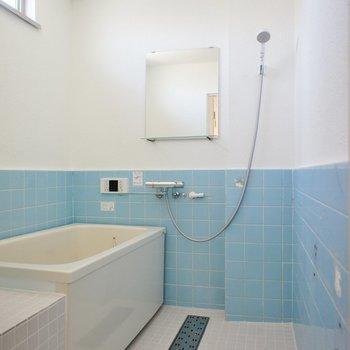 レトロなお風呂!バスタブはきれい