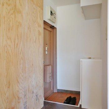 玄関はこんな感じ。小さいけどシューズボックスも