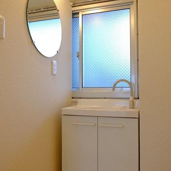 まんまる洗面台がかわいい