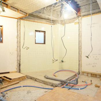 トイレやお風呂にも窓があります!※写真は工事中です