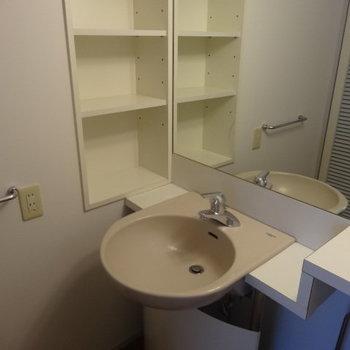 丸い形がなんとなく懐かしい感じ。※写真は3階の同間取り別部屋のものです。