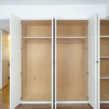 ここにもたっぷり収納!※写真は3階の同間取り別部屋のものです。