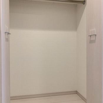 廊下にクローゼットが。十分なサイズ感。