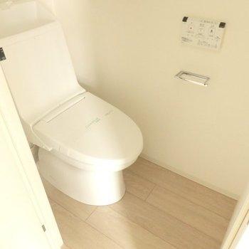 綺麗なトイレ、ウォシュレット付き※画像は別室です
