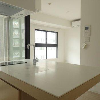 キッチン、蓋を閉めるとこんな感じ※画像は別室です