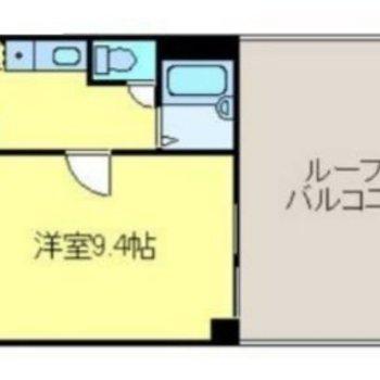 最上階のお部屋です