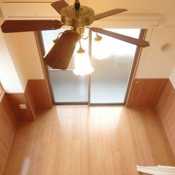 ロフトからの眺め、結構高いです ※写真は別部屋となります