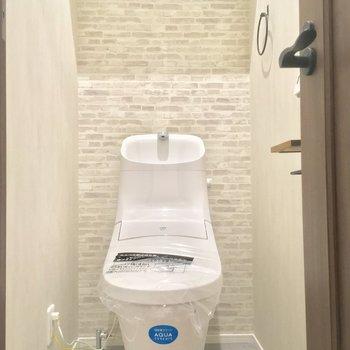 まずはトイレ!壁がカワイイ〜※写真は前回募集時のものです