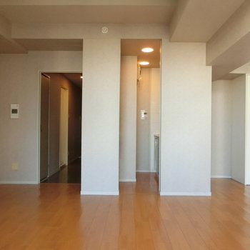 キッチンと廊下の配置
