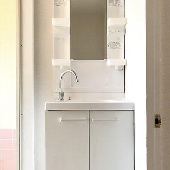 洗面台はドレッサータイプ!