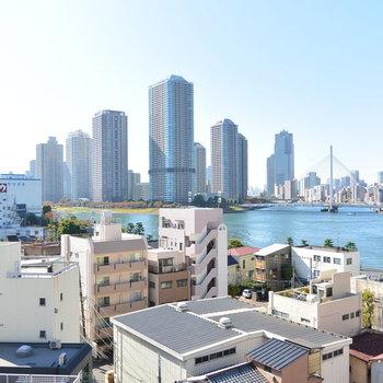 隅田川にタワー。いい景色。