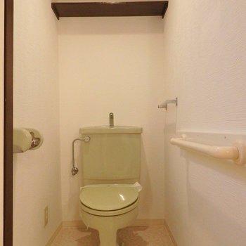 トイレも、渋めですね。