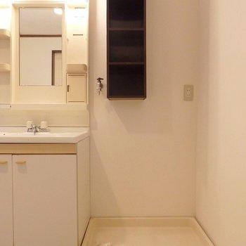 洗濯機置き場は、、あの棚が、、良いような、悪いような。