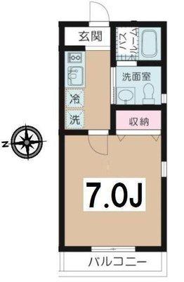 板橋区富士見町マンション の間取り