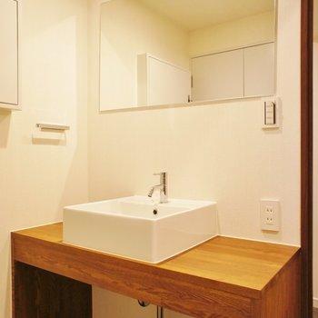 洗面台、可愛いデザイン※写真は前回募集時のものです
