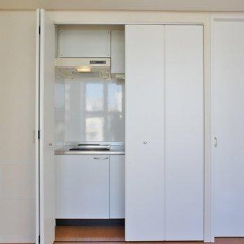 キッチンは隠せるんです。