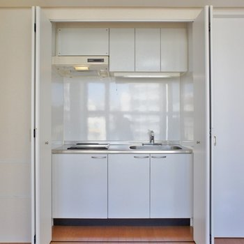丁度いい大きさのキッチン。
