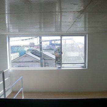 ロフトからの眺め。(写真は別部屋です)