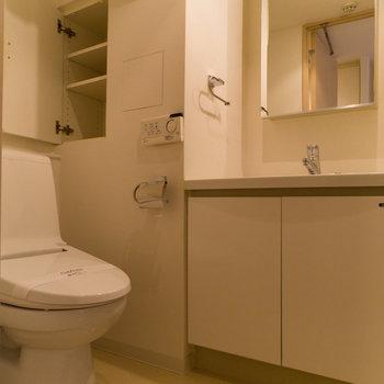 トイレもグッド!収納も助かるな~。